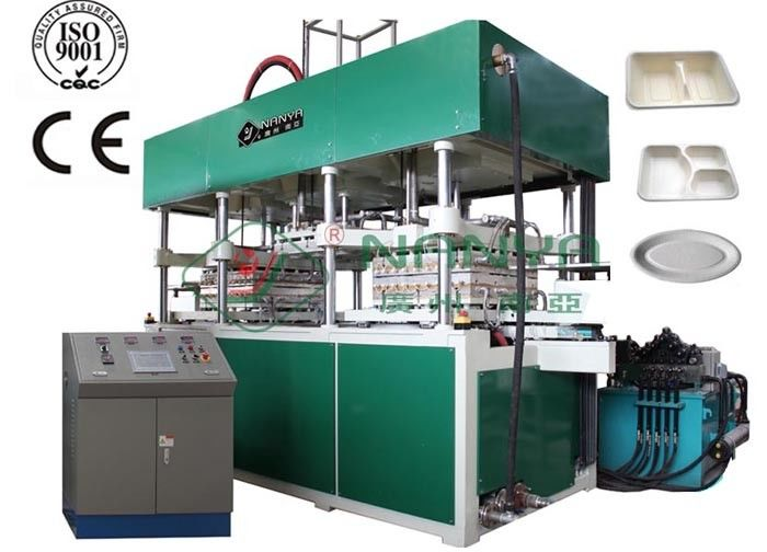 Disposable Molded Fiber Paper Cup / Food Tray Pulp Making Machine 14000Pcs / H