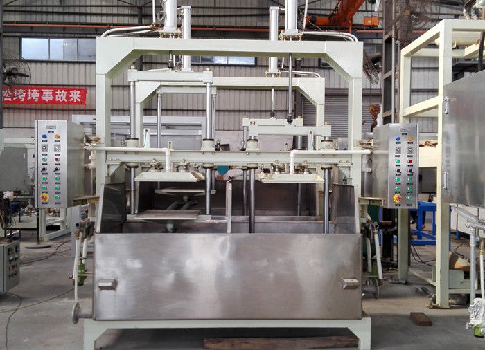 Semi Automatic Recycling Pulp Tray Machine With Sun Drying / 1200pcs / H