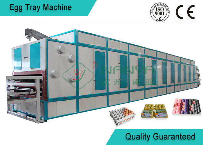 6 Layer Dryer Fast Automatic Pulp Moulding Machinery For Egg Tray / Egg Box