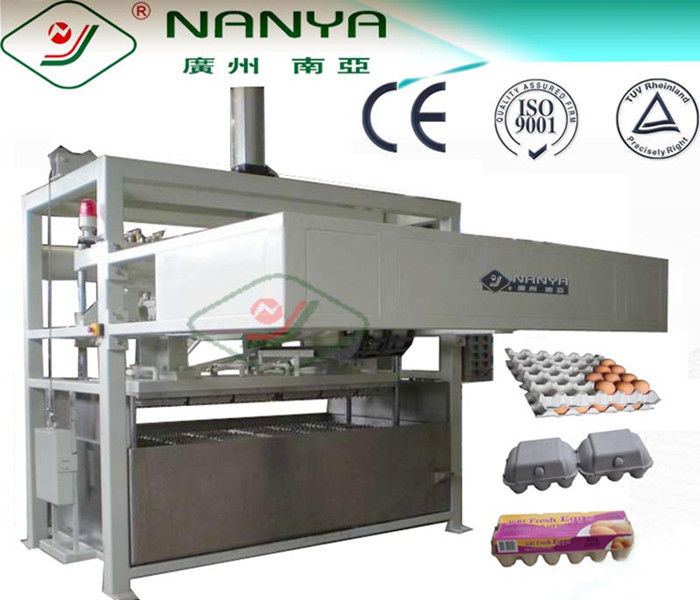 Paper Moulding Pulp Fruit Tray Forming / Egg Carton Machine , 1000pcs/h