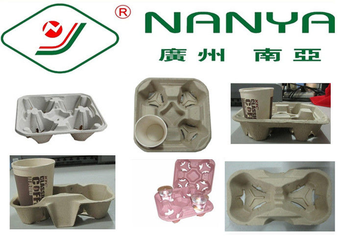 Coffee Cup Holder Pulp Moulded Products with Good Plasticity / Support Customize